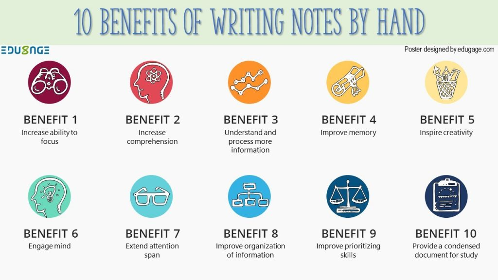 10 benefits of writing notes by hand