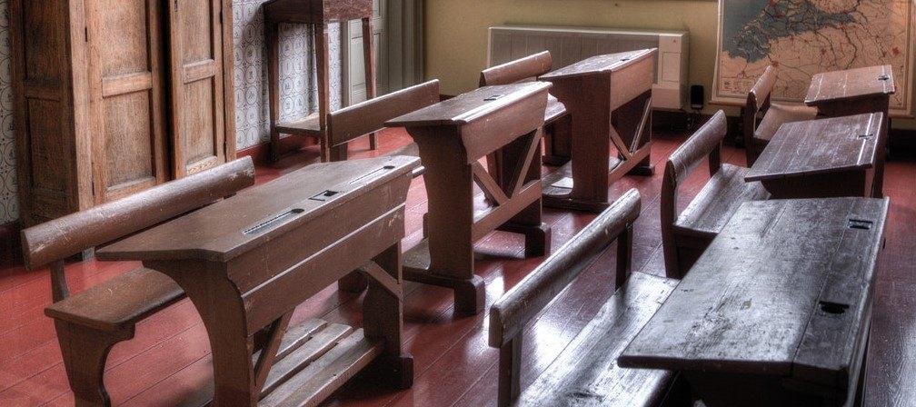 wooden slanted desk